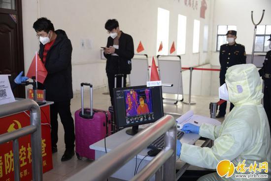 绥德火车站启用热成像人体测温系统