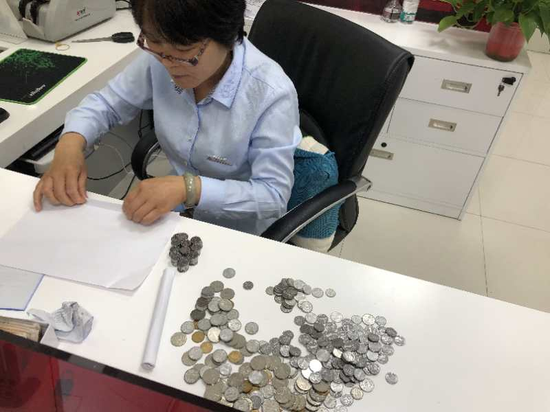 工行渭南澄城古徵支行为客户兑换残币硬币获赞誉
