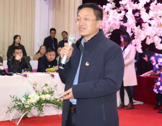 共青团陕西省委副书记徐永兵在联欢晚会上致辞
