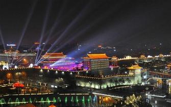央视春晚西安分会场南门灯火璀璨