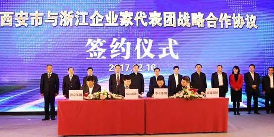 |西安市与浙江企业家代表团战略合作协议签约仪式|
