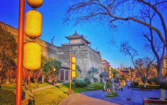 手机摄影西安城墙 砖瓦间的古城味道