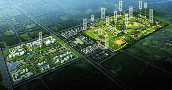 明园鸟瞰图. 秦汉新城管委会供图-西咸新区规划建设国家公园 将成