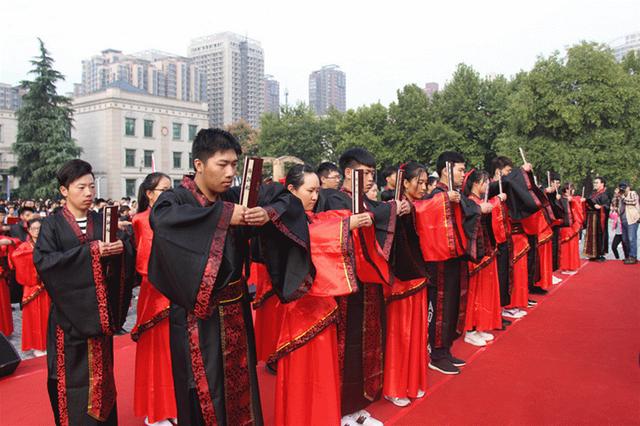 西安外事学院七方书院:新生拜师礼成 传文化继师承