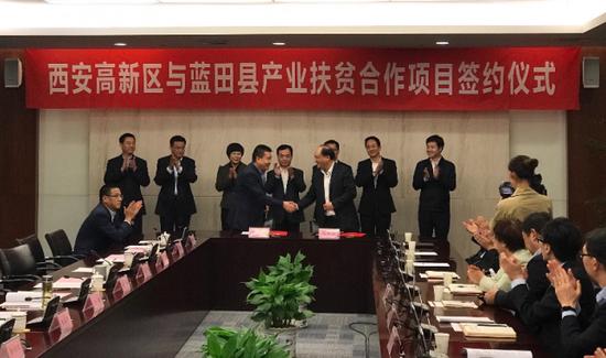 西安高新区与蓝田县签约产业扶贫合作大项目
