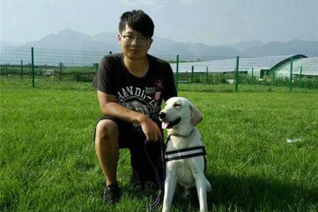 西安一只导盲犬丢失七小时 热心众人帮忙找回