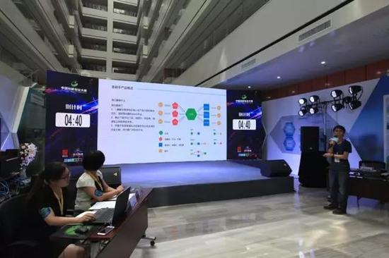 第六届中国创新创业大赛(陕西赛区)互联网及移动互联网行业复赛现场选手进行路演