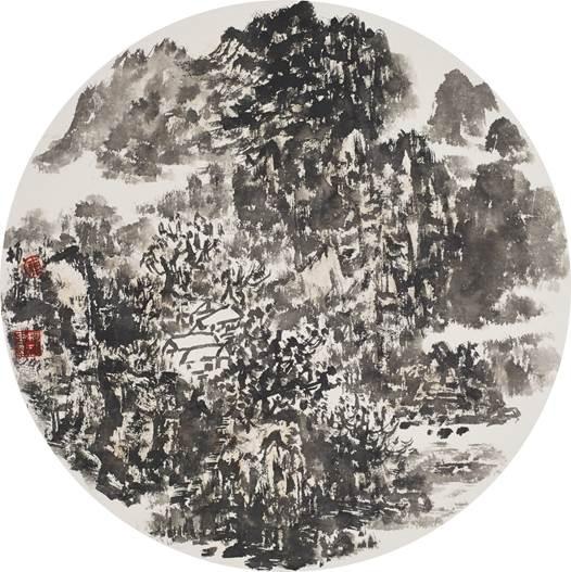 画家车振三山水画作品