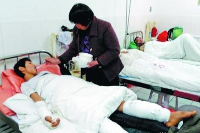 安康农民工拆除网箱时发生意外 腿被炸断