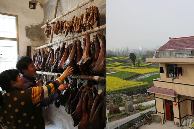 养猪夫妻投百万开农家乐 千斤腊肉已备好