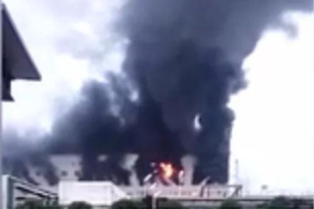 突发!渭南陕化公司一车间发生着火事故