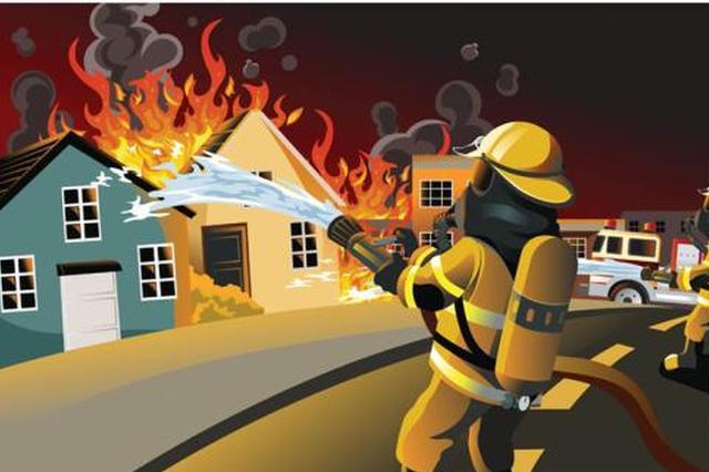 今日凌晨西安一小区高层突发火灾 10多层楼道被烧毁