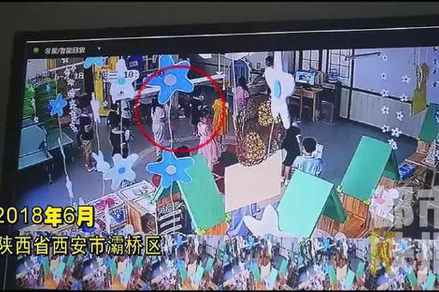 愤怒!监控曝光 西安一幼儿园老师用巴掌管教孩子