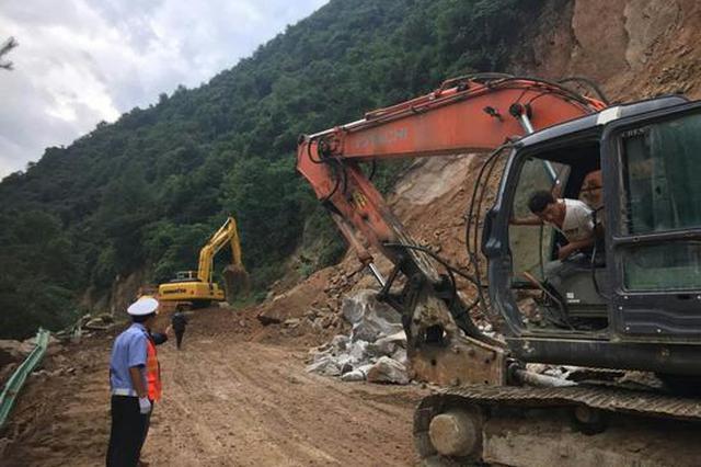 244国道宝鸡段塌方已清理完毕 交通已经恢复
