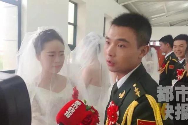 """相爱八年每年见面20天 陕西军嫂嘉峪关""""补""""婚礼"""