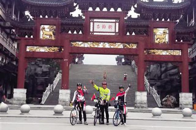 六旬老人19天骑行2325公里到西安 共骑行161个小时