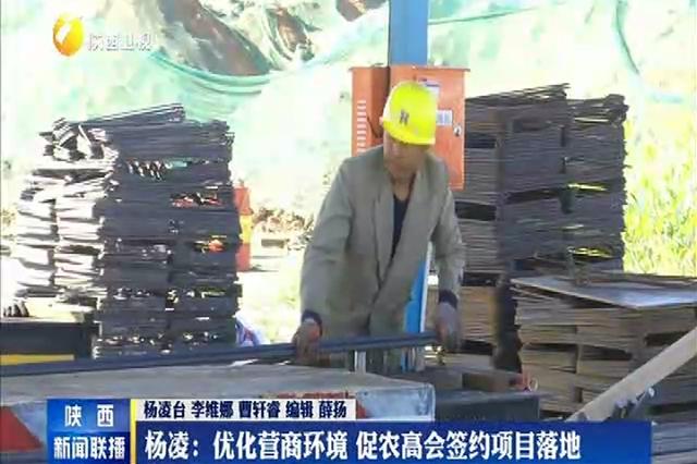 杨凌:优化营商环境 促农高会签约项目落地