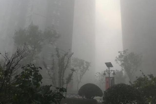 """网友惊呼今早西安""""入仙境"""" 气象部门:雨过天晴现大雾"""