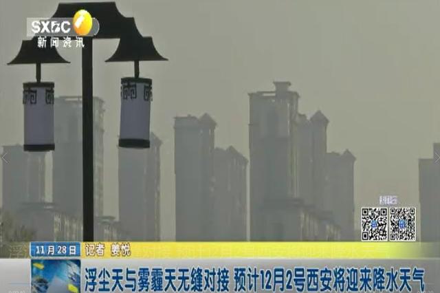 浮沉天与雾霾天无缝对接 预计12月2号西安将迎来降水天气