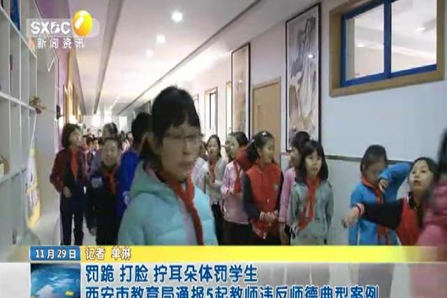 罚跪 打脸 拧耳朵体罚学生 西安市教育局通报5起教师违反师德