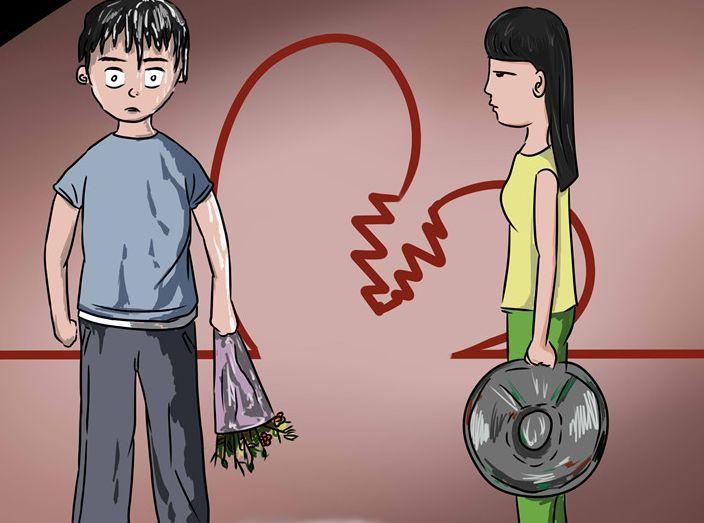 男子追求女孩不成 喷红漆污蔑对方被拘10日