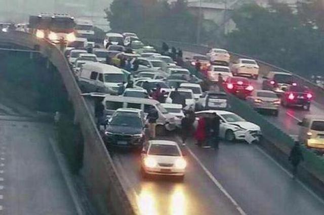 车主朋友请注意 西二环今日试行两套交通优化方案
