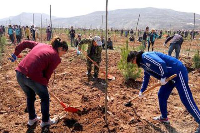 陕西启动义务植树护绿行动 万余名志愿者植树5万余株
