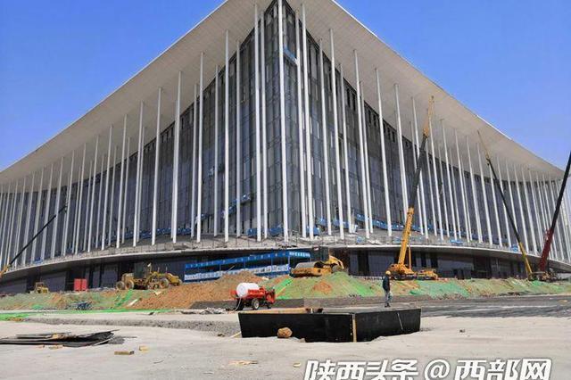 西安丝路国际会议中心完成总体主管线 六月底将完工