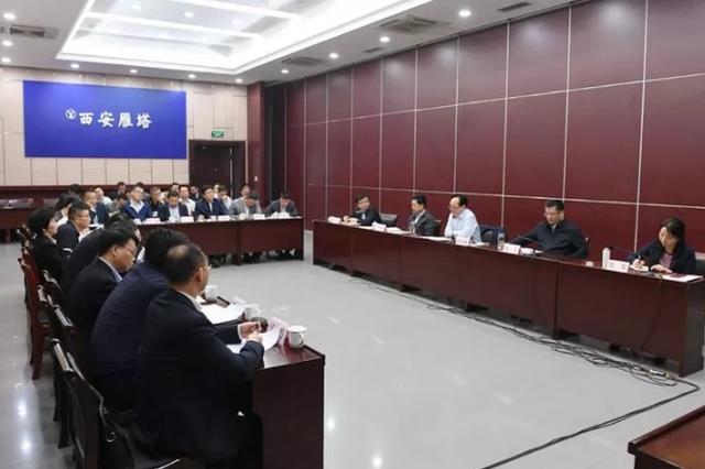 雁塔区委、区政府主要领导会见西安建工集团负责人