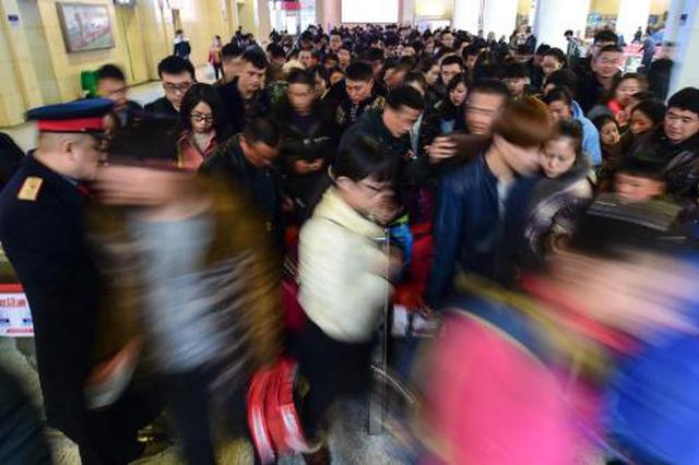 """""""五一""""假期首日陕西高铁客流同比增长40%"""
