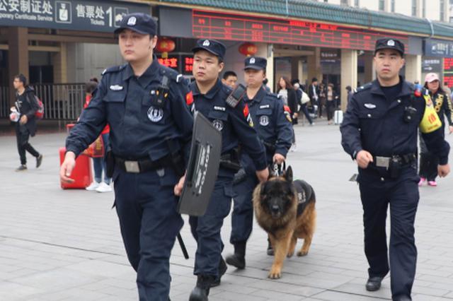 """西铁警方开展""""利剑""""行动 确保""""五一""""乘车安全"""