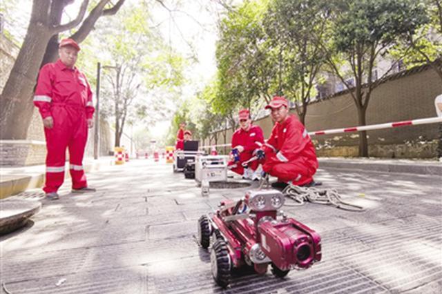 市政养护有了管道机器人 道路不开挖管道可修复