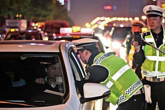 西安高速交警一天处罚违法行为264例 其中醉驾1例
