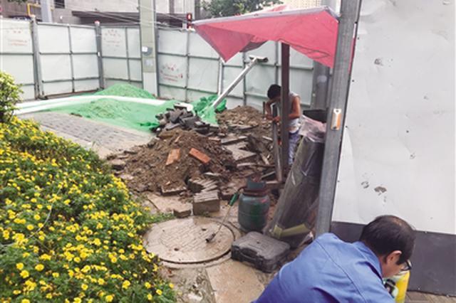 电缆被挖断西安3小区停电 电缆埋地仅30厘米