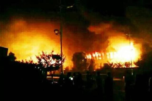 鄠邑区一工厂着火传出爆裂声  所幸无人员伤亡