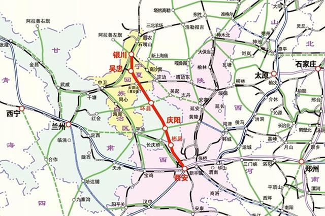 银西高铁宁夏段已建成 甘肃段和陕西段正按计划推进