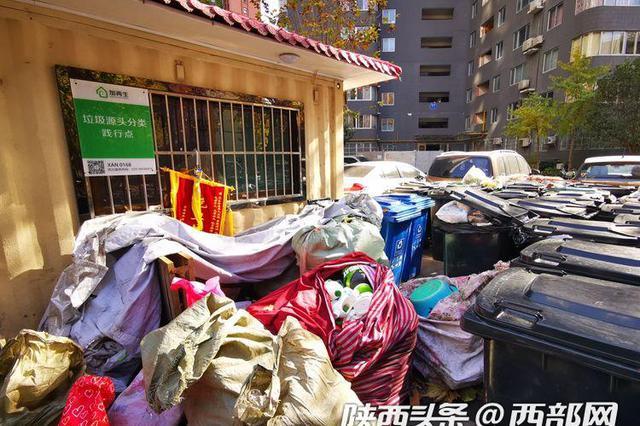 """西安实施垃圾分类两月有余 多数投放还是""""一锅烩"""""""