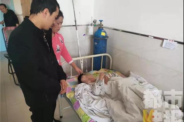 陕西10岁男孩遭托管班人员铁条殴打 还被摔致颅内损伤