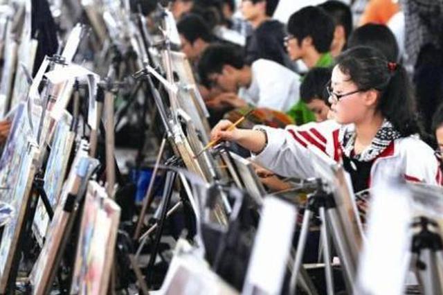 陕西高考艺考统考昨举行 考生感叹想拿高分不容易