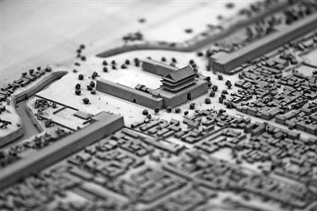 """微缩模型""""还原""""老西安城 引来众多市民参观"""