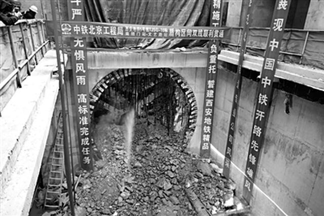 地铁5号线南稍门站主体封顶 提前7天完成封顶目标
