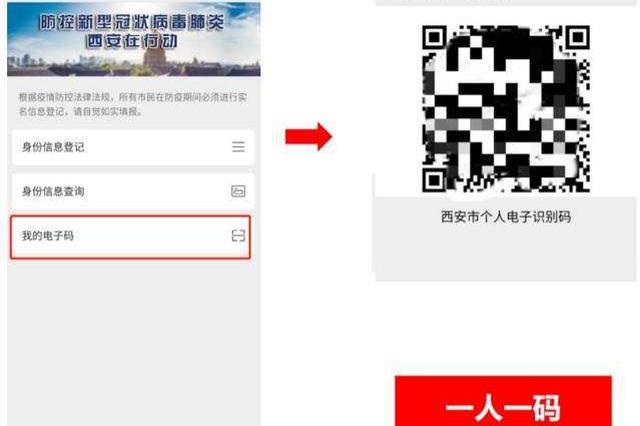 西安全面应用个人电子识别码 在公共场所均需凭码通行