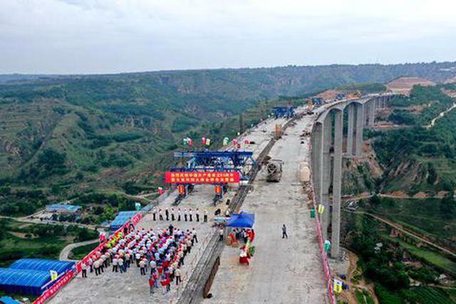 全国在建最高刚构大桥支党河特大桥7月1日合龙 横跨陕甘