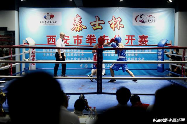 """西安市拳击公开赛上演 拳台之上""""拳拳到肉"""""""