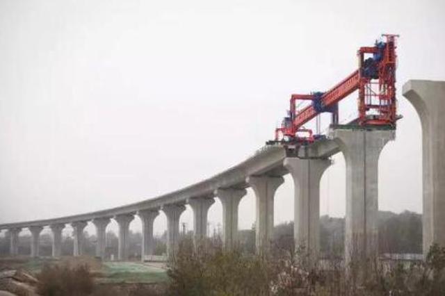 阎机城铁泾河特大桥 施工进入重要节点