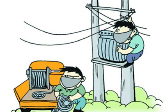 佳县打掉一流窜盗窃电缆线团伙 现场抓获犯罪嫌疑人5名