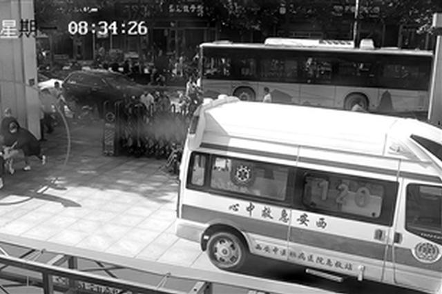 乘客突发急性心绞痛 西安公交车司机开大巴紧急送医