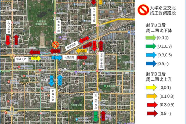 西安交警提醒:近期东二环交通流量较大 请大家提前择路绕行