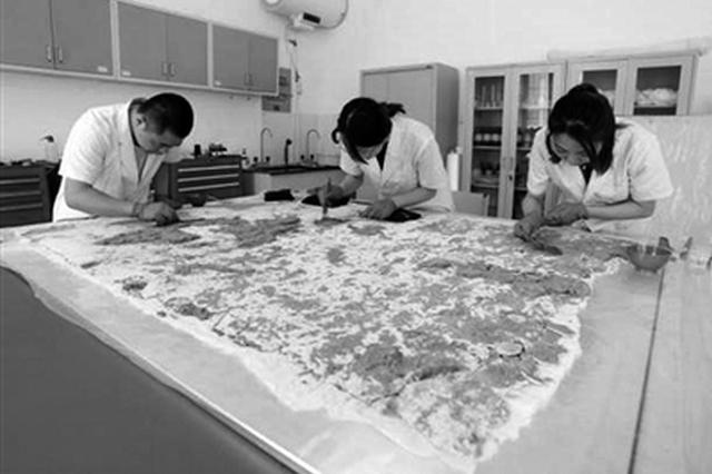 陕甘文保专家携手保护吐谷浑王族墓壁画