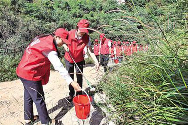 西安市秦岭生态保护青年志愿者工作站昨日成立